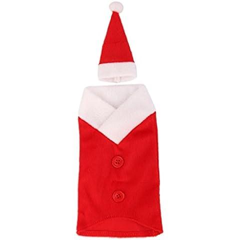 Bolso Envoltura Cubierta Santa Sombrero Botella Vino Decoración Regalo De Navidad