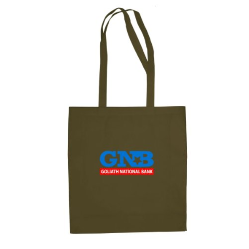 HIMYM: Goliath National Bank - Stofftasche / Beutel Oliv