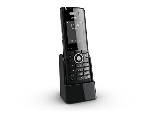 Snom Professional Handset M65 (250 Hours Standby, Two-line Display (2x16 characters), SW Upgrade Over-the-air) Black Computer, Cordless-headsets