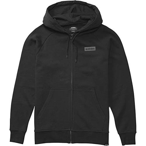 Etnies Core Icon Zip Hoody Small Black - Icon Zip Hoodie