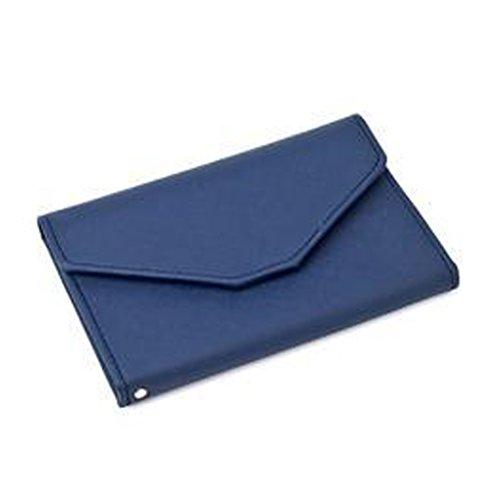 FuweiEncore Reiseorganizer Reisepasshüllen Dokumententasche Reisebrieftasche Brieftasche Kreditkarten-Halter (Farbe : Dunkelblau, Größe : Einheitsgröße)