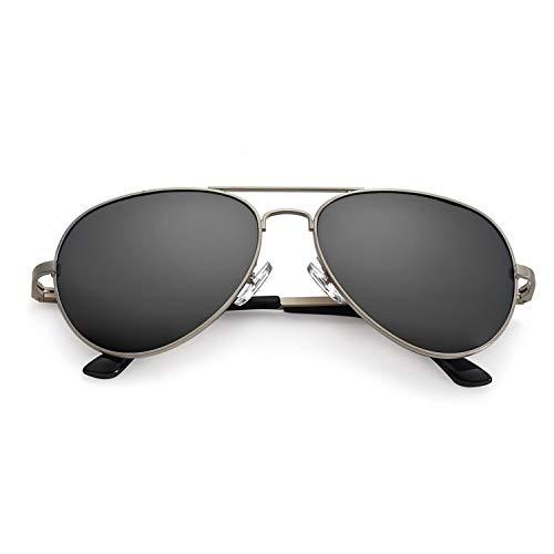 SODQW Sonnenbrille Herren Polarisiert Pilotenbrille Klassisch Flieger Brille für Autofahren Angeln Metallrahmen 100% UVA/UVB Schutz (Waffe/Graue polarisierte Linse(kein Spiegel))