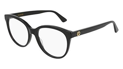 Gucci Damen Brillengestell Schwarz Schwarz Medium