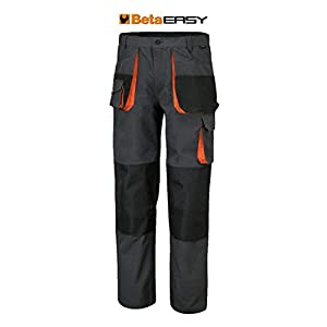 BETA Tools 7900E 79000900 Automotive Work Trousers, Grey/Black, X-Small