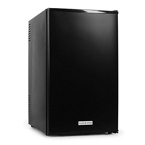 Klarstein • MKS-9 • Minibar • Mini-Kühlschrank • Getränkekühlschrank • A • 66 Liter Volumen • leiser Betrieb • 30 dB • ca. 43 x 72,5 x 51,5 cm (BxHxT) • 2 Regaleinschübe • Seitenfächer für Flaschen • 3-stufiger Temperaturregler • Gehäuse matt-schwarz •