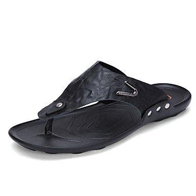 Slippers & amp da uomo;Estate PU comfort informale all'aperto sandali giallo nero sandali US8 / EU40 / UK7 / CN41
