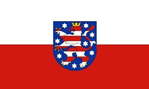 U24 Aufkleber Thüringen Flagge Fahne 8 x 5 cm Autoaufkleber Sticker