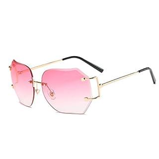 Amcool Unisex Sommer Mode Platz Farbverlauf Brille Flieger Spiegel Reise Sonnenbrille (Rosa)