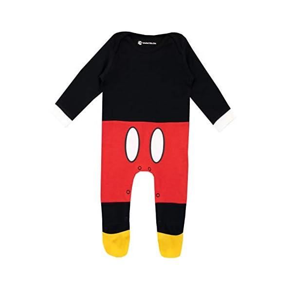 Disney Pijama Conjunto de Pijama Entera y Gorro para Niños Bebés Mickey Mouse 2