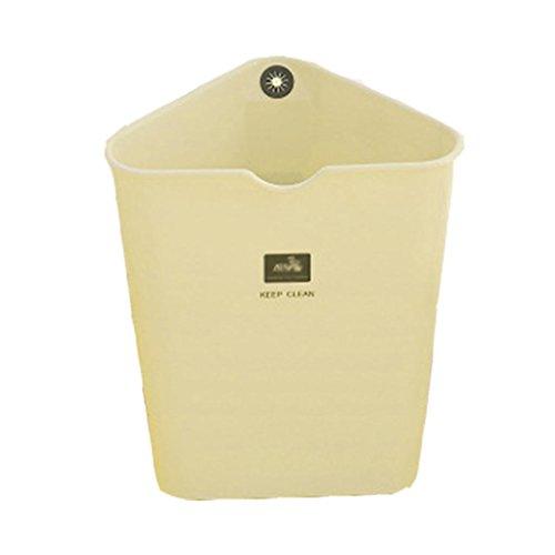 MülleimerFashion kreative Dreieck Mülleimer, Wohn-Wohnzimmer, Schlafzimmer, Küche Mülleimer 8.5L , #3 (Kofferraum Papierkorb)