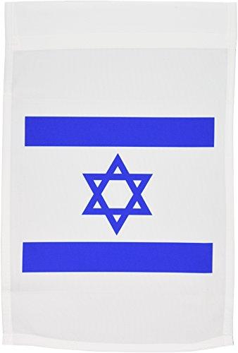 3drose FL _ 151420_ 1israelischen Flagge, blau und weiß mit Davidstern Hexagram Star jüdischen Staates Israel Judentum zionismus Garten Flagge, 12von 18