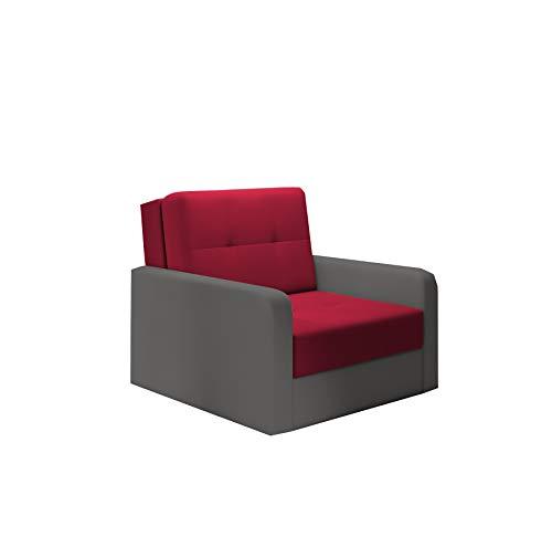 mb-moebel kleines Sofa mit Schlaffunktion und Bettkasten Schlafsessel Gästebett Jugendsessel Couch Bettsofa ERIK01 (Bahama 25 + Bahama 34)