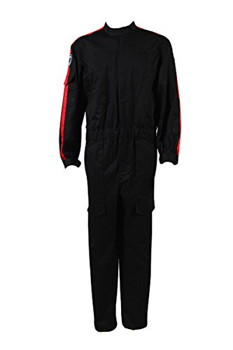 Star Wars Imperial Tie Fighter Pilot Black Flightsuit Uniform Jumpsuit B Kostüm für Erwachsene (Kostüme Fighter Wars Tie Star)