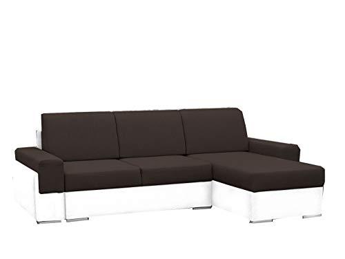 mb-moebel Kleine Ecksofa Sofa Eckcouch Couch mit Schlaffunktion und Zwei Bettkasten Ottomane L-Form Wohnlandschaft Bruno