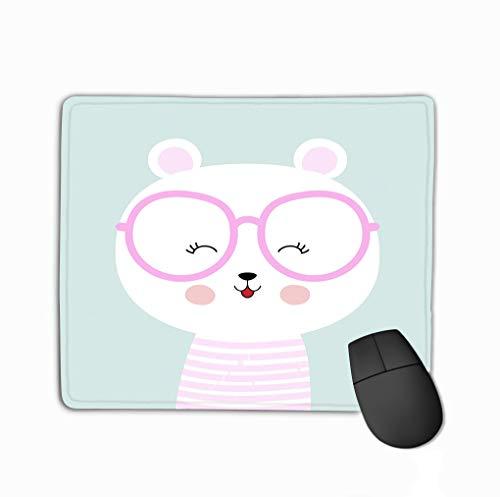 Mouse Pad ute Cartoon Bear Glasses Cute Greeting Card