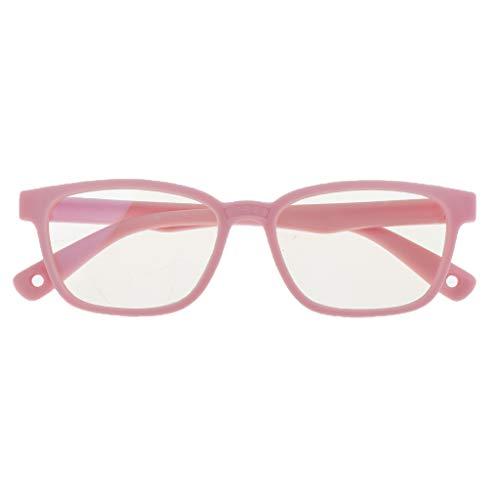 T TOOYFUL Blaulicht-Schutzbrillen Kinderbrille Computerbrille Bildschirmbrille Blaulichtfilter Brillen Gaming Brillen für PC Handy und Fernseher - Rosa