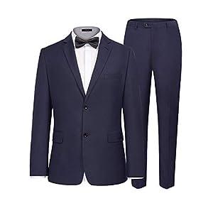 iClosam Herren Anzug 3-Teilig Regular Fit Business Herrenanzug Smoking mit Weste Jacke und Hose