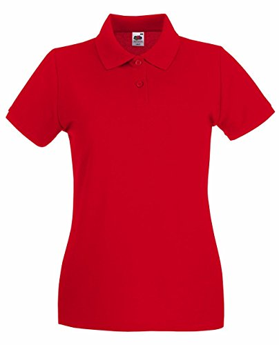 Fruit of the Loom Damen Poloshirt Premium Polo Lady-Fit Red