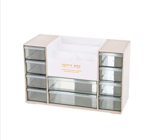 ZHAS Kosmetische Aufbewahrungsbox Acryl Multi-Layer Desktop kosmetische Aufbewahrungsbox/Schreibtisch Schublade Briefpapier Rack/Aprikose