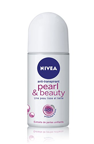 Nivea Deodorant Roll-On Pearl & Beauty für Frauen 50 ml, 3er Pack (3 x 50 ml)