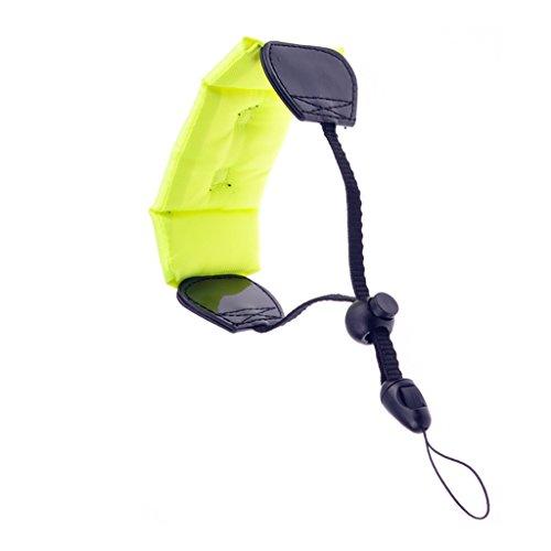 Schiuma galleggiante cinturino da polso impermeabile fluorescente per la macchina fotografica digitale gopro