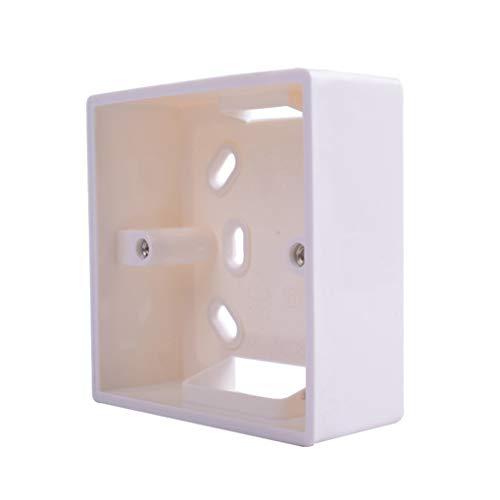 Diamoen Externe Montage Box Ersatz für 86mmx86mm Standard-Schalter und Steckdosen Anwenden Einer beliebigen Position der Wandfläche -