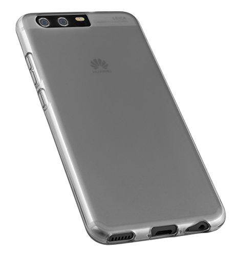 mumbi Schutzhülle für Huawei P10 Hülle transparent schwarz