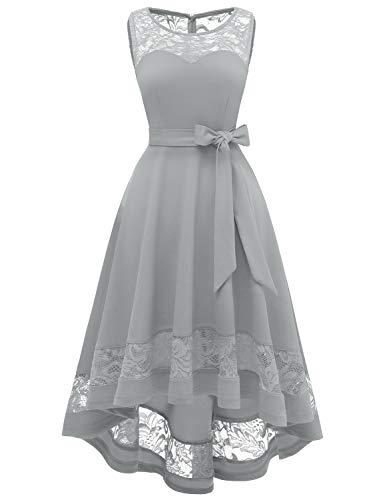 GardenWed Damen Kleid Cocktailkleid Elegant Unregelmässig Spitzenkleid Abendkleider für...