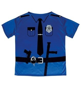 Police Officer T-Shirt Unisex Costume 158cm for Cop Fancy (Dress Cops Fancy)