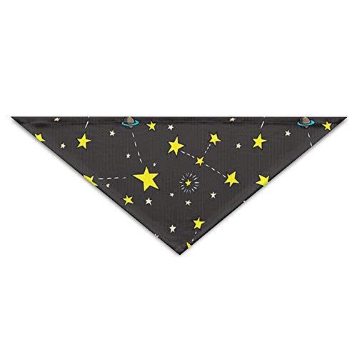 BigHappyShop Yellow Shining Stars Pet Scarf Dog Neckerchief Puppy Triangle Triangle Bibs Scarfs for Pet - Shining Star Kostüm