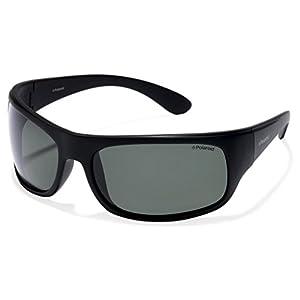 Polaroid 7886 - Gafas de sol rectangulares unisex, color negro (black), talla 66
