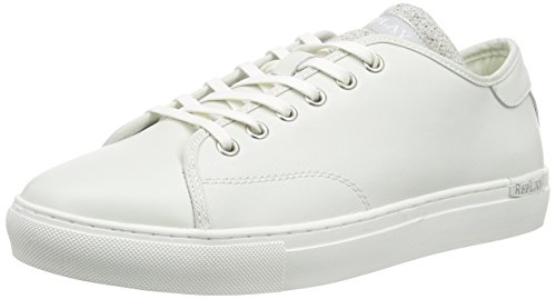 Replay Bushey, Baskets Basses homme Blanc - Weiß (OFF WHT 41)