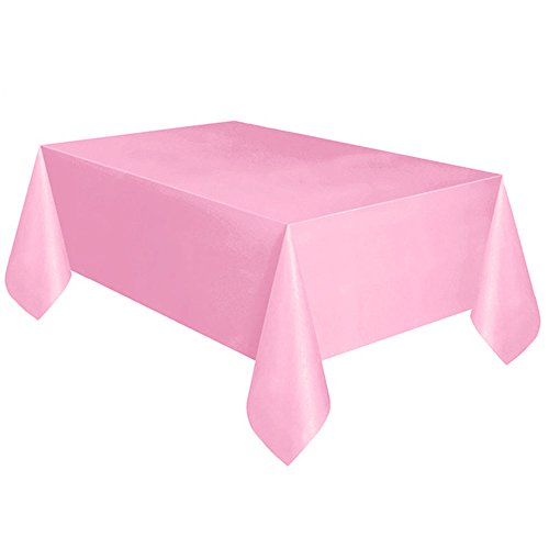 MOIKA Nappe Jtable de Table Rectangular Anniversaire Couleur Unie Maison Salle à Manger Hôtel Coloré Impermeable Essentials Carrée Nappe de Table Marage(Rose,137 * 183)