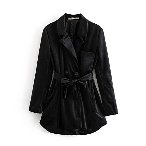 LIMITA Reversblazer für Damen, Lässige Pure Color Turn-Down-Kragenjacke Pocket Velvet Jacket Mäntel Wintermantel Kapuzenjacken Motorradjacke Oberbekleidung (Oberbekleidung Socken)