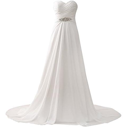 JAEDEN Mujeres Elegantes Sin tirantes gasa vestido de novia largo vestidos de boda