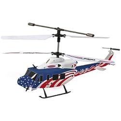 Jamara 037100 Twin Huey Big - Helicóptero radio control con giróscopo (control remoto con 3+2 canales) [importado de Alemania]