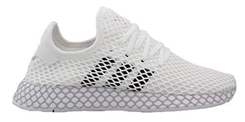 Adidas Unisex-Erwachsene Deerupt Runner J Fitnessschuhe, Weiß(ftwr white/core black/GREY TWO F17), 37 1/3 EU(4.5 UK)