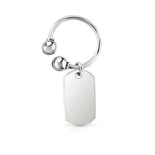 Leere Dog Tag Schlüsselbund Gravierbaren Hufeisenförmigen Key Ring Halter Für Herren Damen Graduation Sterling Silber -