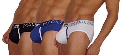 Mark7Gear TRIPLE PACK SLIPS V2 - 3er Pack Boost Engeneering (PUSH-UP), M, weiss, blau, schwarz