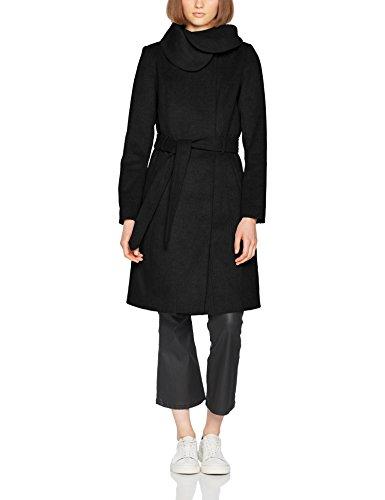 VILA CLOTHES Damen Mantel Vidahlia Wool Coat-Noos, Schwarz (Black Black), 36 (Herstellergröße:S)