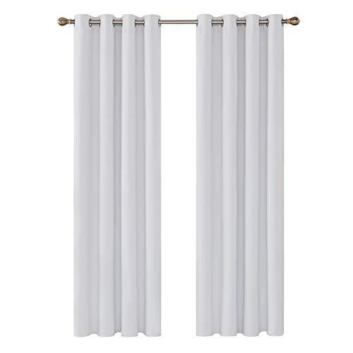 Deconovo tende oscuranti termiche isolanti tende finestre soggiorno con occhielli per camera da letto 140x290 cm grigio perla 2 pannelli
