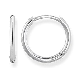 35ca97094 Thomas Sabo Women Silver Hoop Earrings CR634-051-14: Amazon.co.uk ...