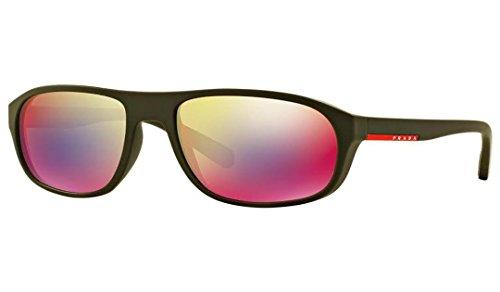 Prada Sport Herren 0PS01RS UBW9Q1 58 Sonnenbrille, Grün (Green Rubber/Grey - Sport Brillen Prada
