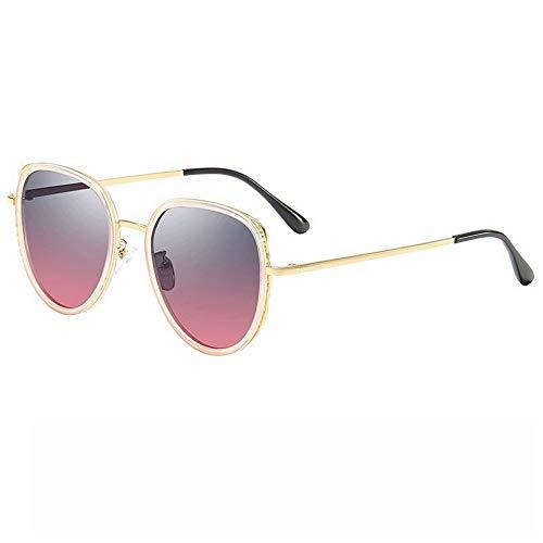 MIAOMIAOWANG Wayfarer Sonnenbrillen Aviator Metall Spiegel UV 400 Objektiv Runde Sonnenbrille Für Männer Frauen Stil Unisex-Farben (Farbe : Lila, Größe : Casual Size)