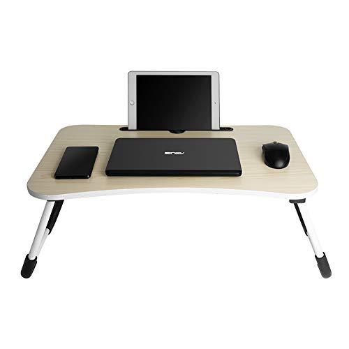Laptoptisch Stabiler Laptop Betttisch Faltbar Lapdesk Lese Tisch Tragbarer Laptopständer für Frühstücks, Notebook, Bücher, Minitable, Bett Tablett - 60 * 40cm Verstellbarer tragbarer Laptop-Tisch -