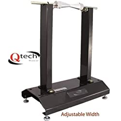 Qtech Motorcycle Bike Stand Rail 17-21 Inch Wheels Lifting Stand Clamp Stand Universal Fit Durable with Floor Anchoring Bolts
