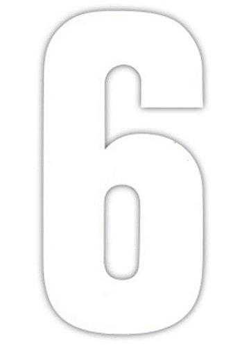 *2 Große Nummern Für Mülltonnen Selbstklebend Aufkleber Weiße Nummer – 6*