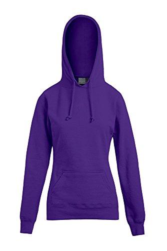 Sweat à capuche femme violet pansy