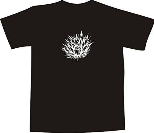 T-Shirt E347 Schönes T-Shirt mit farbigem Brustaufdruck - Logo / Grafik - filigrane Pusteblume / Natur Mehrfarbig