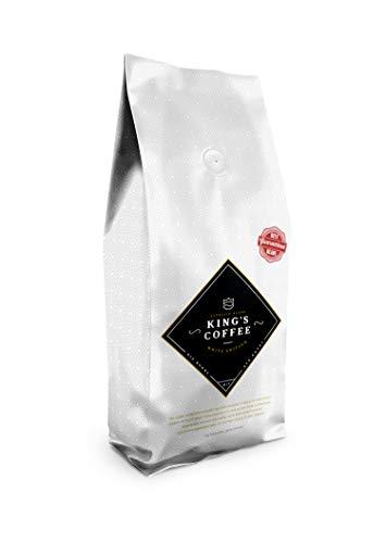 King's Coffee - White Edition Espresso - 100% Arabica Blend - Kaffee-Bohnen für Vollautomaten - 1KG Espresso-Bohnen - Röstung Kaffee-bohnen Dunkle Bio